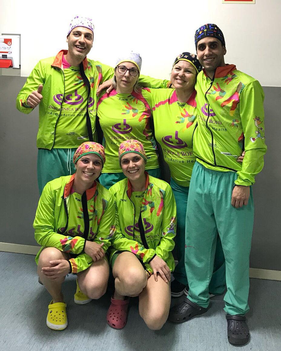 Ignasi, Fina, Paki, Jordi, Sònia i Vero